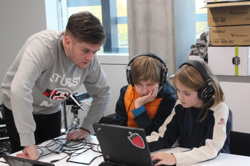 EdLab Report: Students support an innovative music and computer coding workshop in half-term